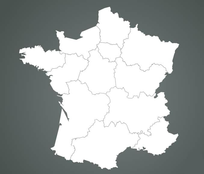 Carte de France : localisation des centres de formations Dialogis.