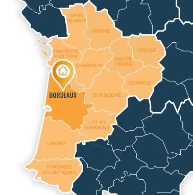 Localisation centre de formations Bordeaux (Gironde / Nouvelle Aquitaine).