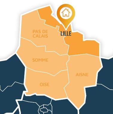 Localisation centre de formations Lille (Nord / Hauts-de-France).