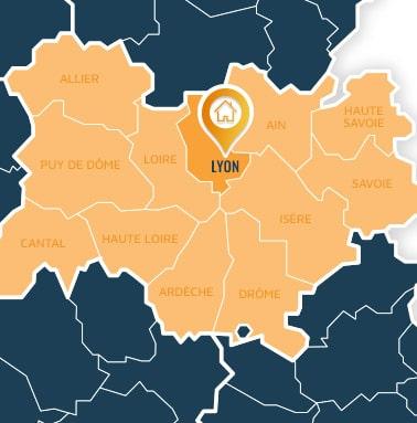 Localisation centre de formations Lyon (Rhône / Auvergne-Rhône-Alpes).