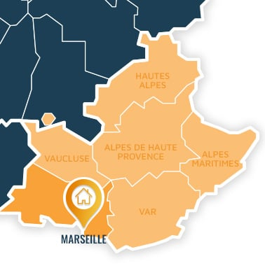 Localisation centre de formations Marseille (Bouches-du-Rhône / Provence-Alpes-Côte d'Azur).