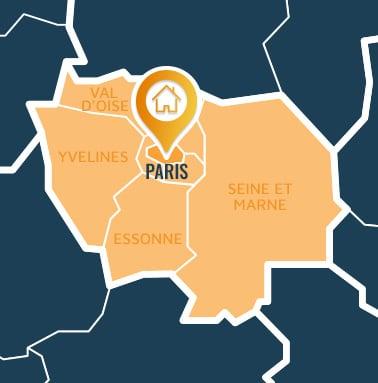 Localisation centre de formations Paris (Paris / Île-de France).